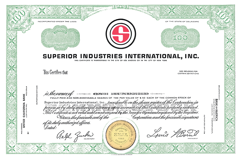 History - Superior Industries International - Stock-Color